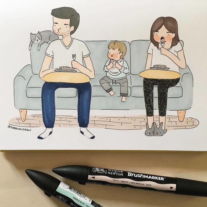 Когда появляется ребенок первые, жизнь, моменты, жизни, Western, рисовать, повседневную, мирские, задачи, такие, стирка, захватывающие, Когда, ребенка, художницу, матери, «Хочу, положить, бумагу, чтобы