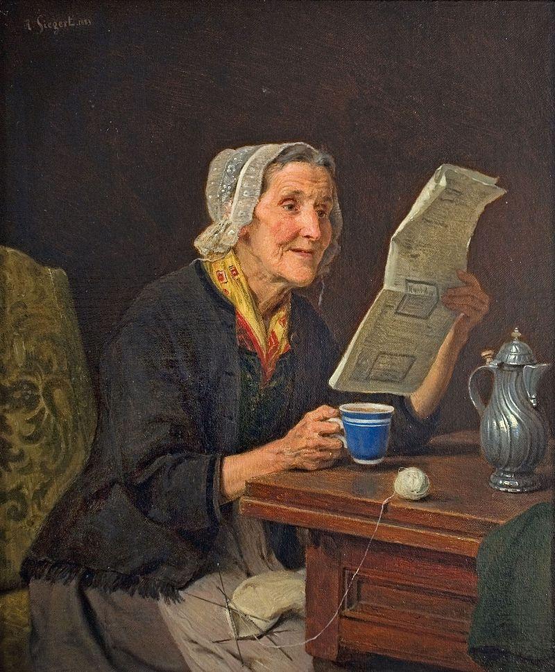 August_Friedrich_Siegert_–_Alte_Frau_mit_Zeitung_und_Kaffeetasse_1883.jpg