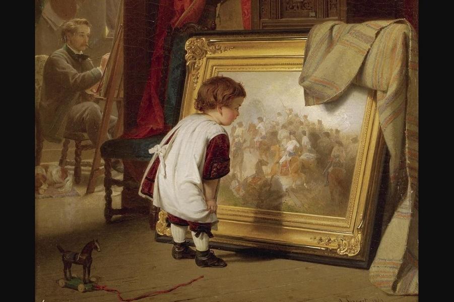 Genre scenes in German painting. August Friedrich Siegert