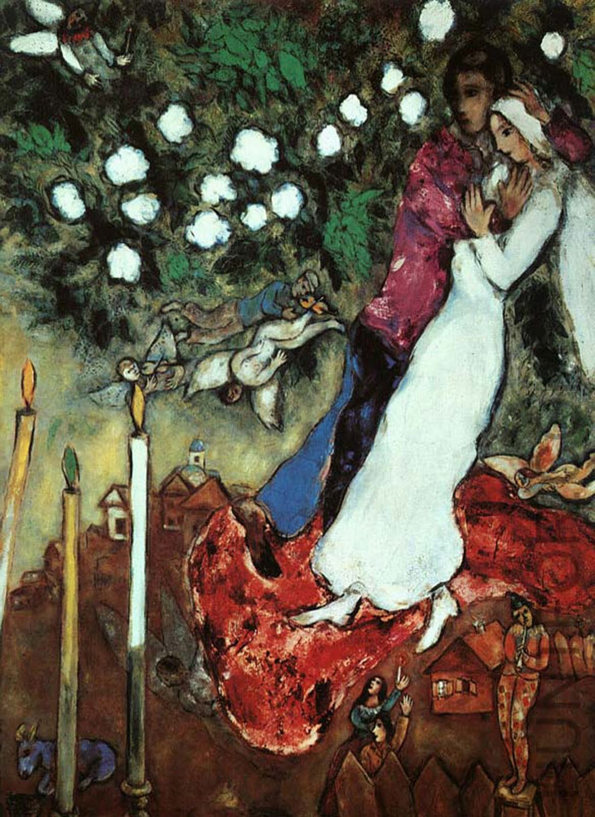 Chagall, Couple wih Candles & White Blossoms.jpg