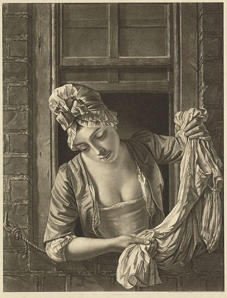 a_laundry_maid_leaning_out_of_a_sash_window_to_wring_out_a_wellcome_l0051348.jpg