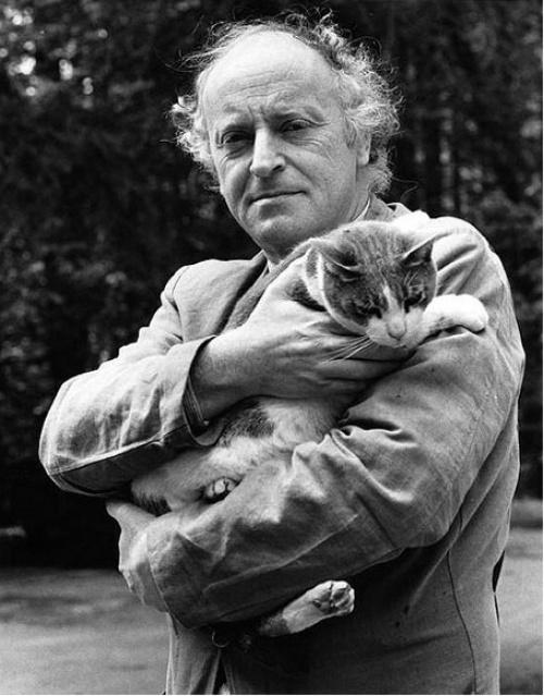 Иосиф Бродский с котом Миссиссипи