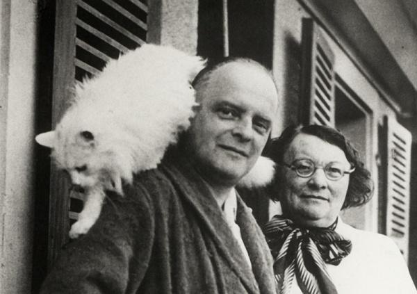 Пауль Клее с котом Бимбо
