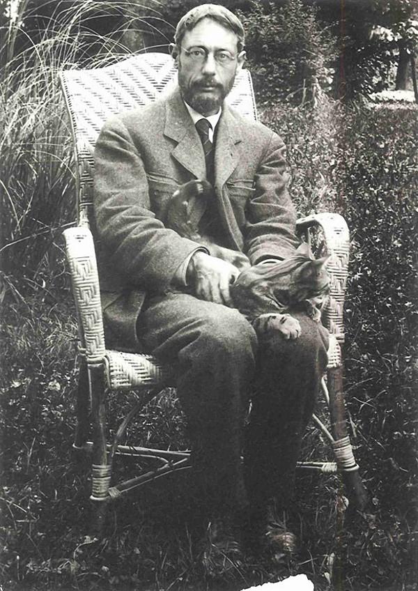 Пьер Боннар с котом