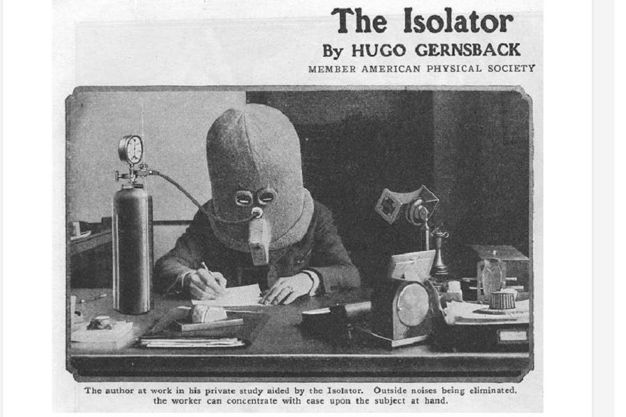 Изолятор: этот безумный шлем 1925 года подойдет любому современному офису