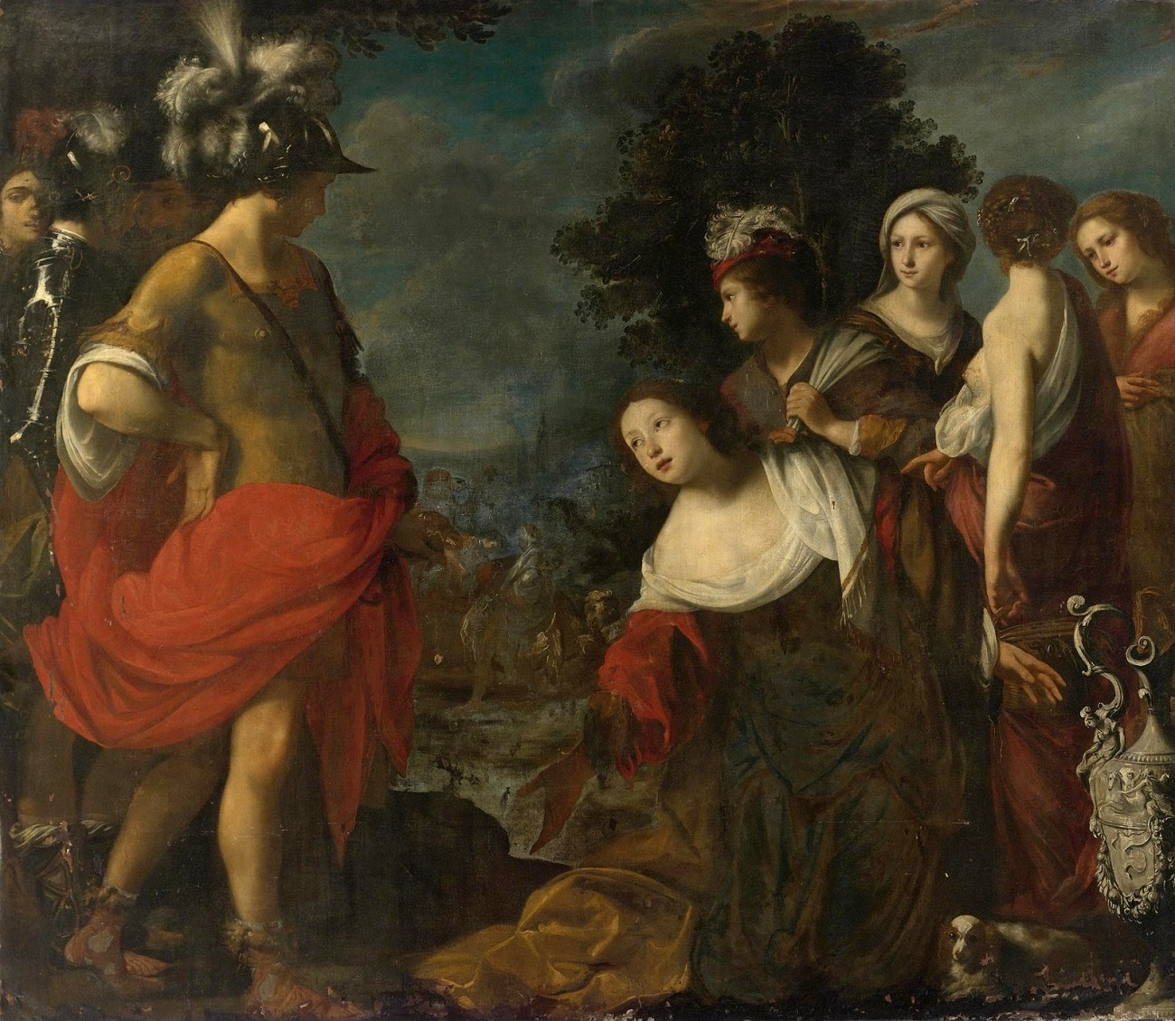 Авигея перед Давидом (Abigail before David)_201.3 х 232.1_х.,м._Частное собрание.jpg