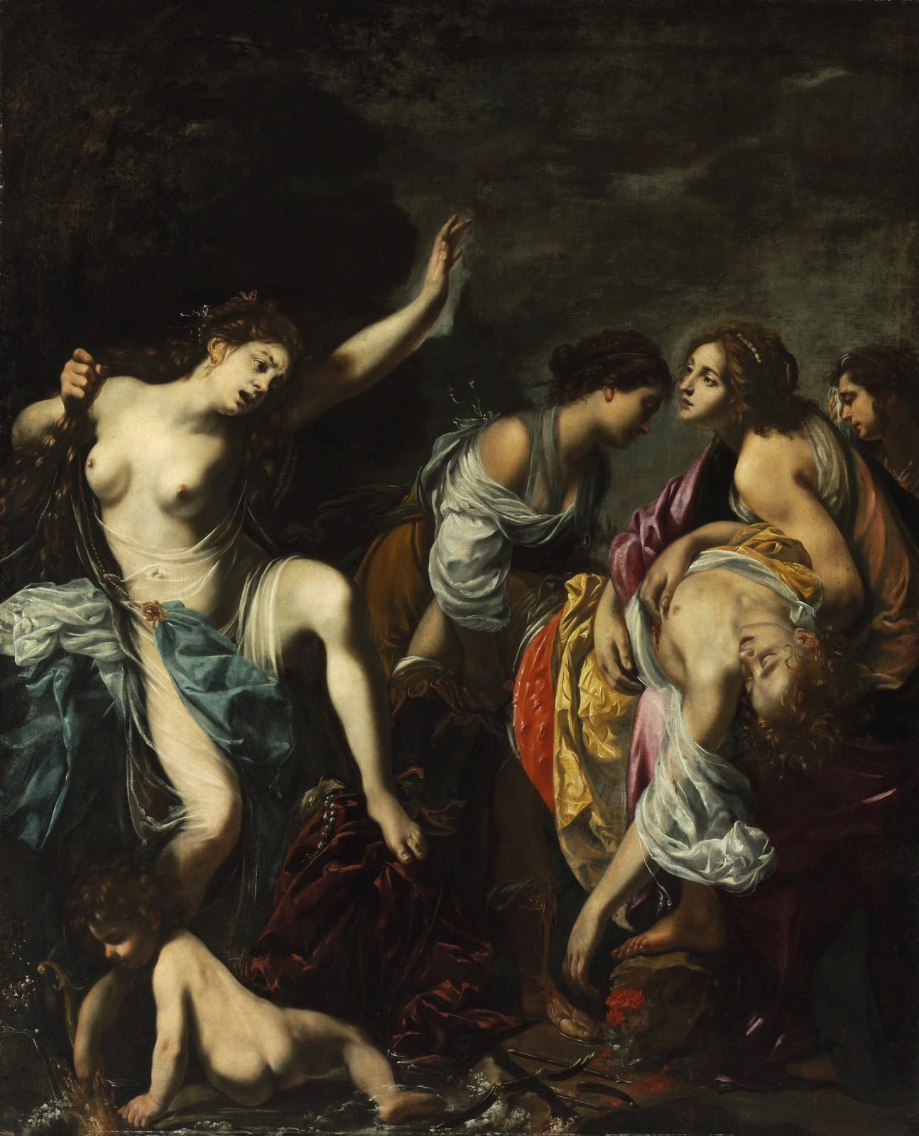 Венера оплаквает Адониса (Venus lamented Adonis)_1635_233 х 190_х. на д.,м._Будапешт, Музей изобразтельных искусств.jpg