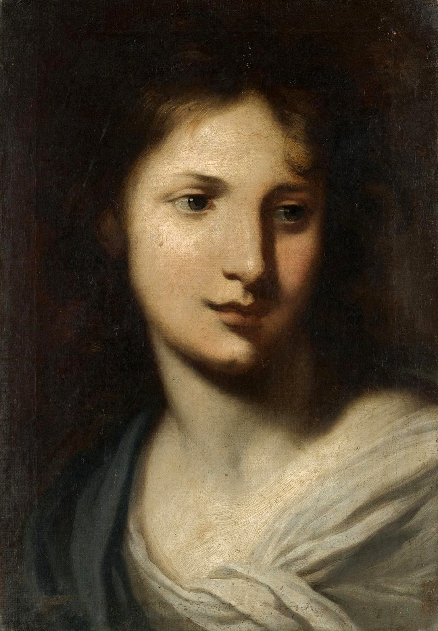Голова молодой женщины, возможно, Марии Магдалины (The head of a young lady, probably Mary Magdalene) (атр)_45 х 31_х.,м._Частное собрание.jpg