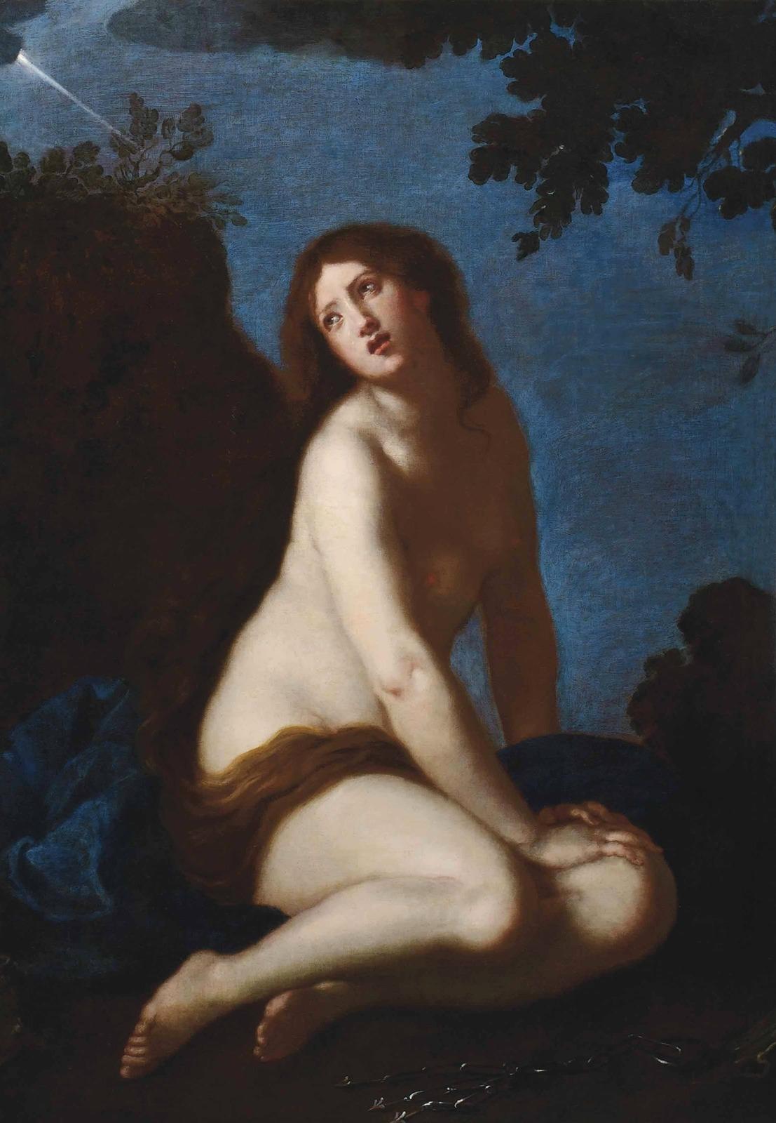 Кающаяся святая Мария Магдалина (The penitent Saint Mary Magdalen) (атр)_149.6 х 105.1_х.,м._Частное собрание.jpg
