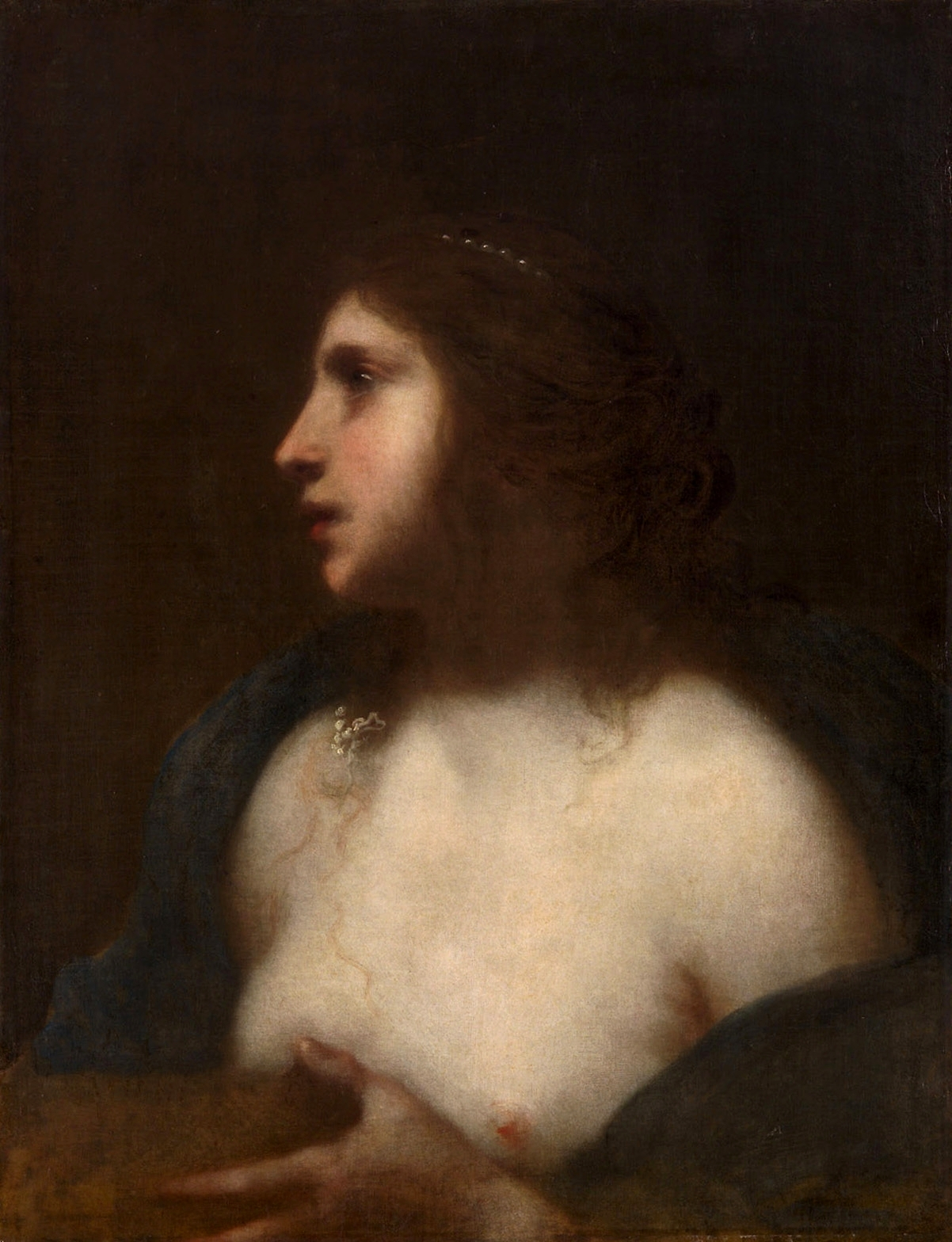 Кающаяся святая Мария Магдалина (The penitent Saint Mary Magdalen)_64.5 х 50_х.,м._Вена, Музей истории искусств.jpg