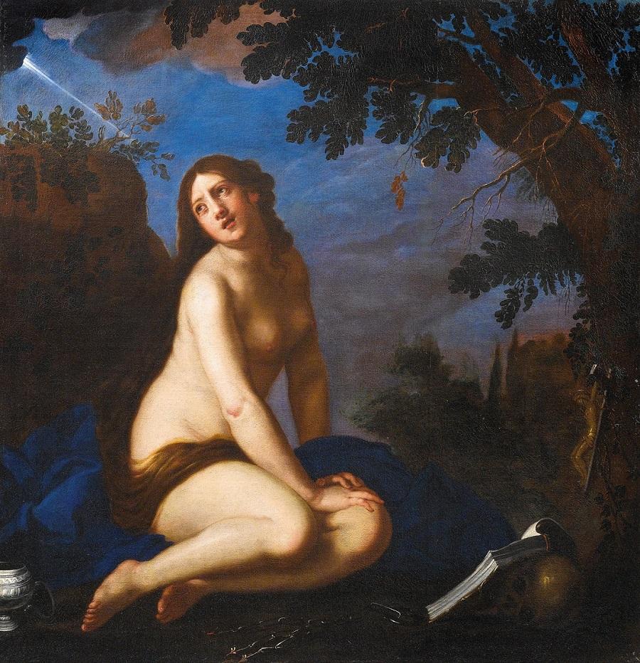 Кающаяся святая Мария Магдалина (The penitent Saint Mary Magdalen)_158 х 152_х.,м._Частное собрание.jpg
