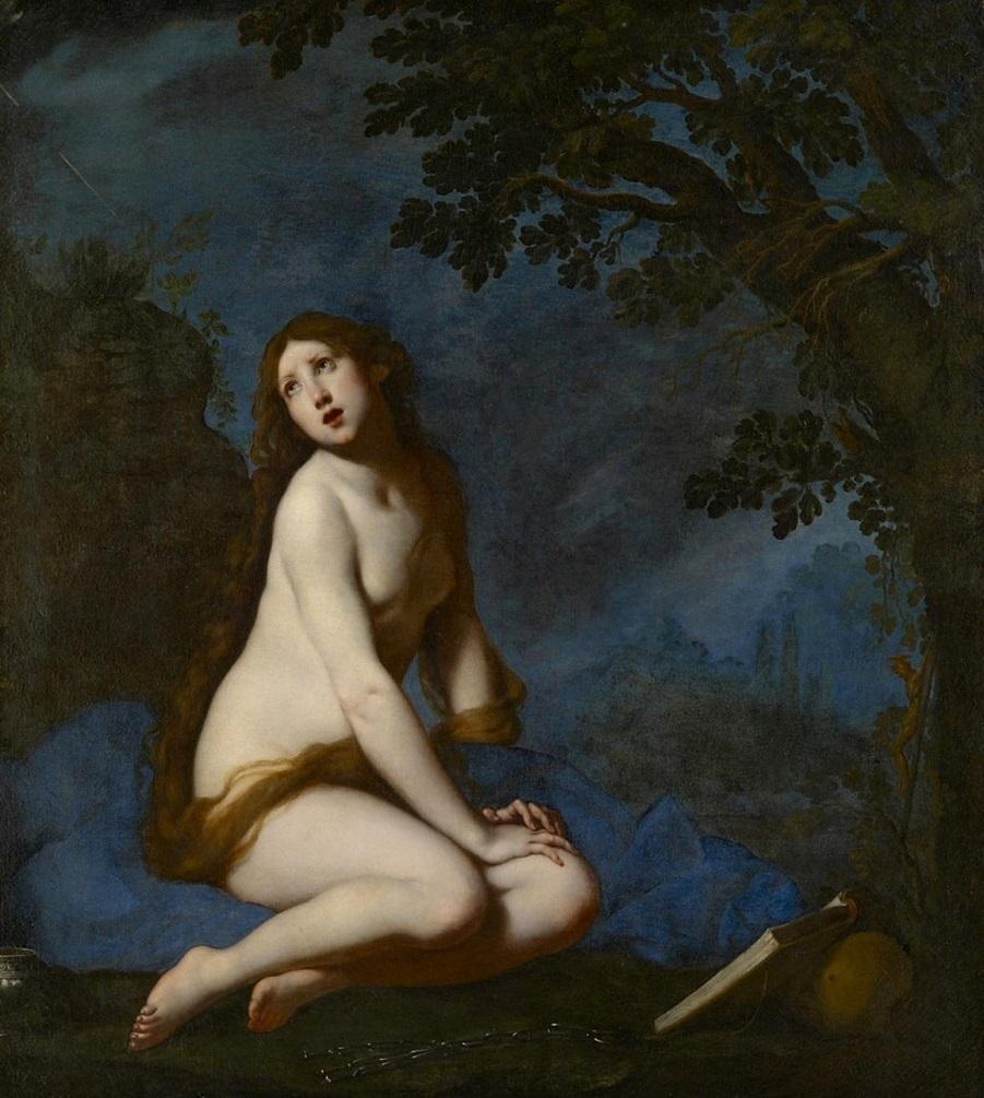 Кающаяся святая Мария Магдалина (The penitent Saint Mary Magdalen)_ок.1634_168 х 150.5_х.,м._Вена, Музей истории искусств.jpg