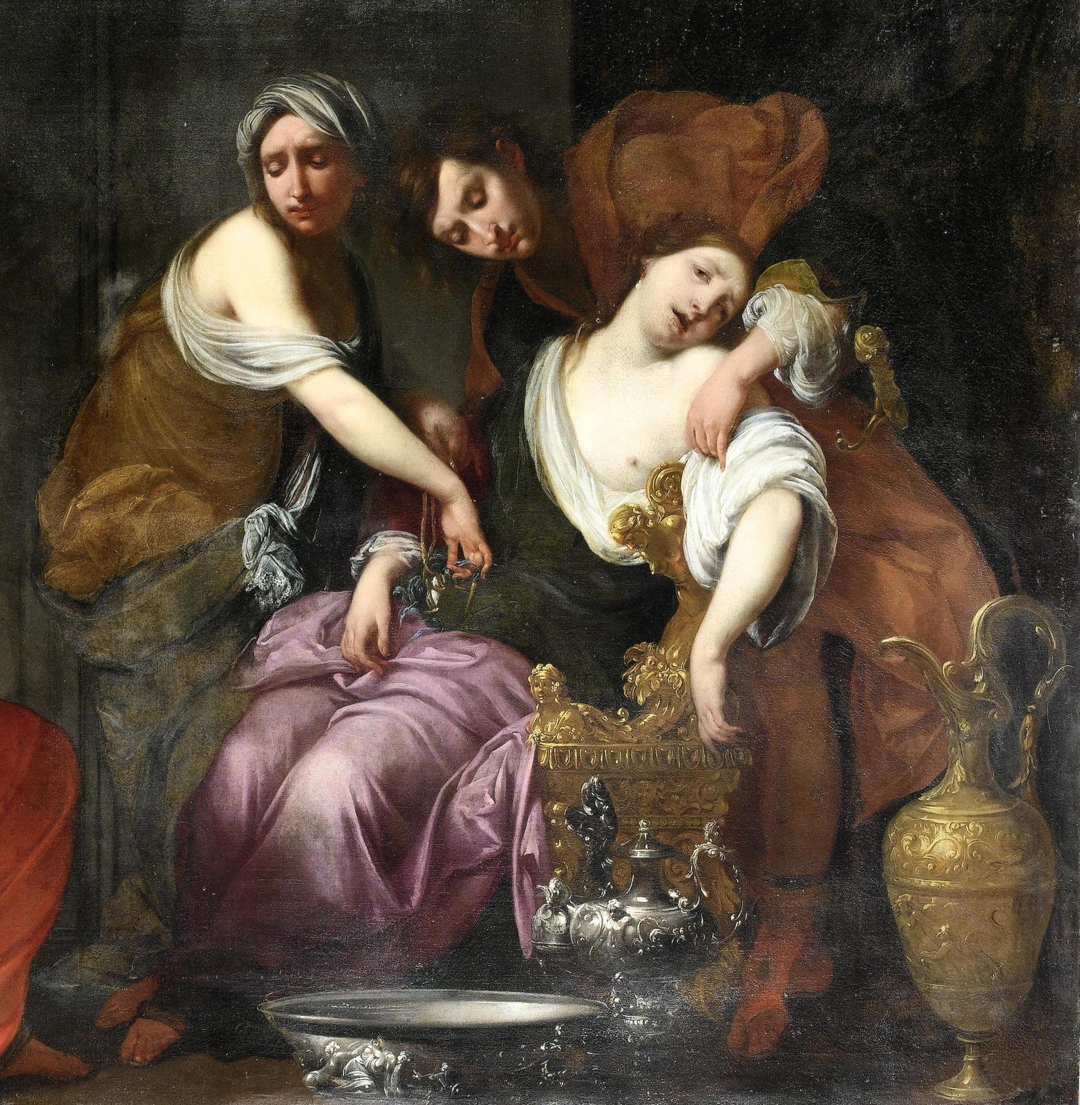 Рахиль, родившая Иосифа (Rachel giving Birth to Joseph) (совм с мастерской)_156 х 204_х.,м._Частное собрание_деталь 2.jpg