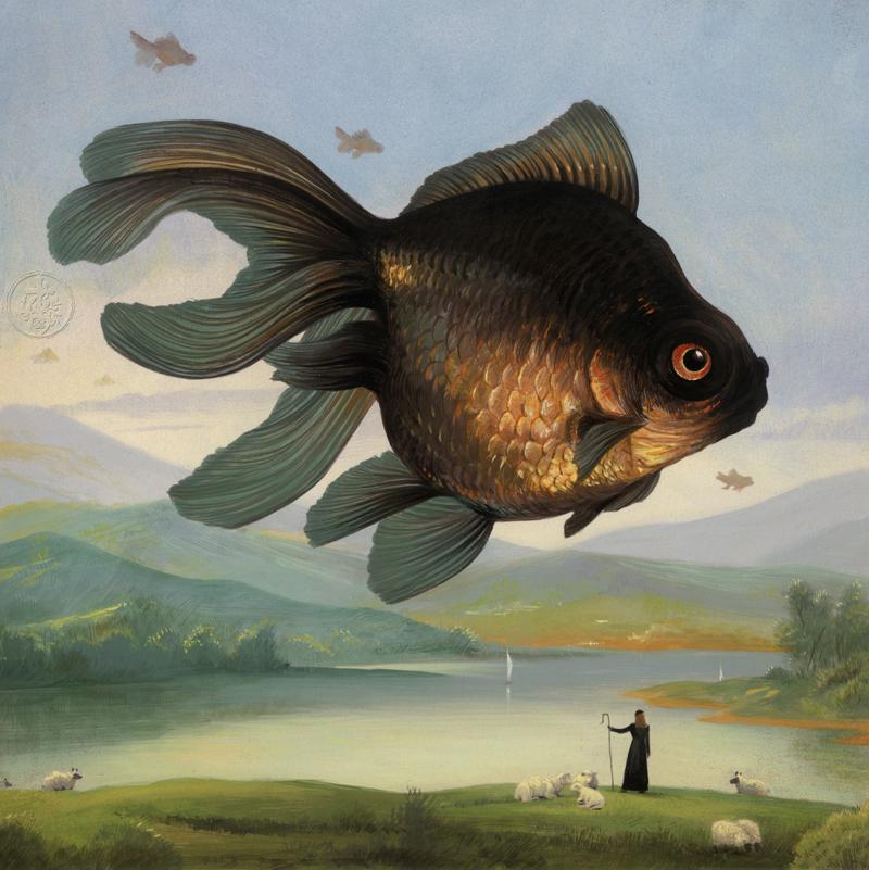 Феноменальные картины Билла Майера Майер, которые, работы, воспользовавшись, содержание, эмоциональное, передают, Билла, словам, бумаге, смыслом, акварельной, гуаши, композиций, небольших, коллекции, мечтах», «Странных, Сосредоточусь, поэтическим
