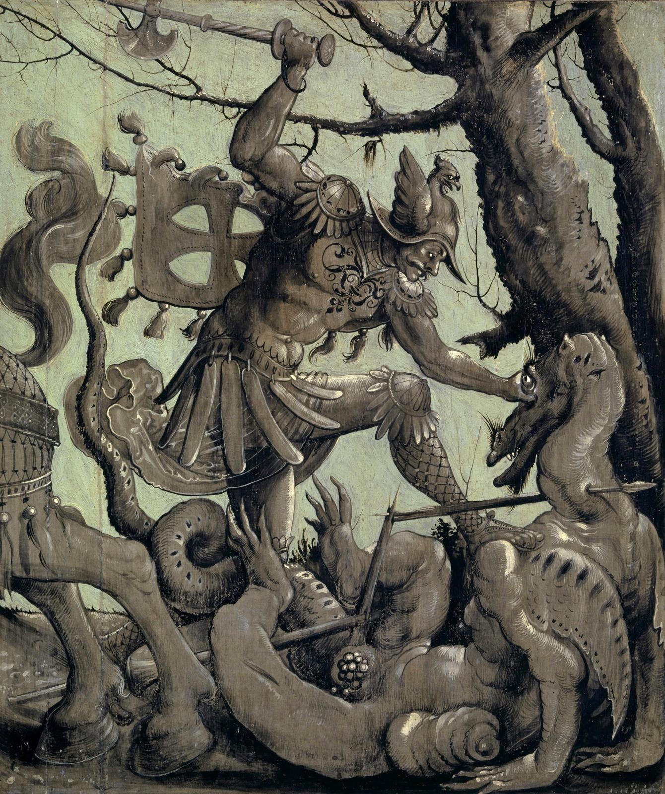 2_Святой Георгий и дракон (Saint George Fighting the Dragon)_ок.1520_60.9 х 51.5_дерево, темпера_Базель, Кунстмузеум.jpg