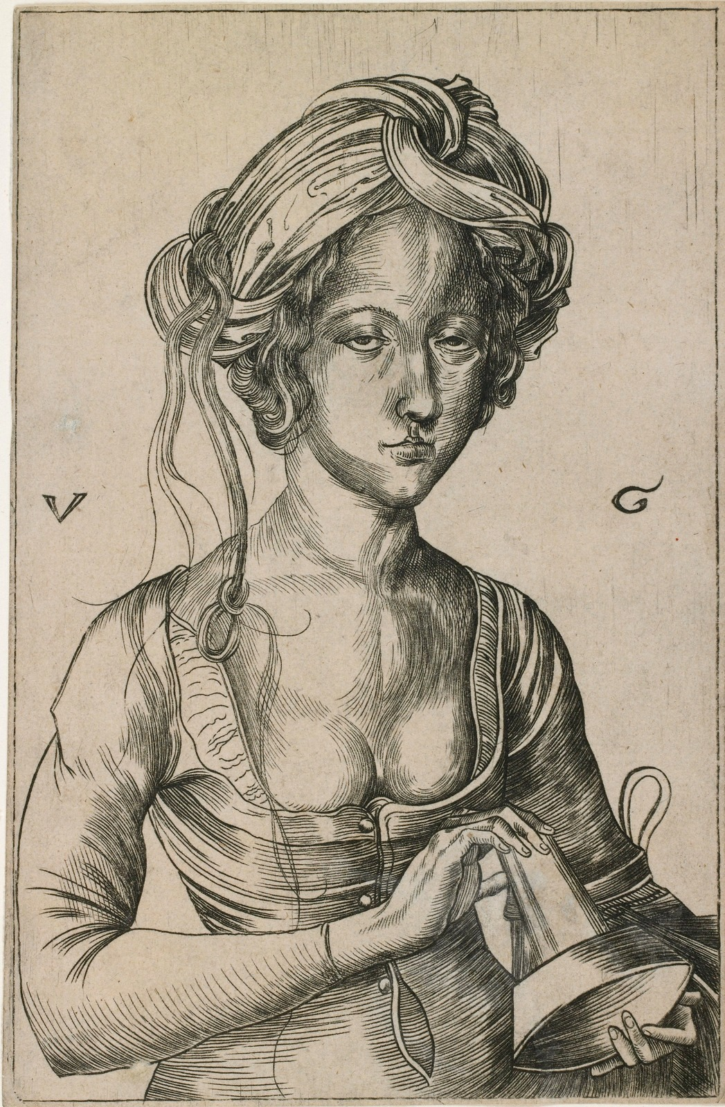 Дева неразумная (копия с гравюры Мартина Шонгауера) (A Foolish Virgin, After Martin Schongauer)_1500-1530_15.7 х 9.8_резцовая гравюра на меди.jpg