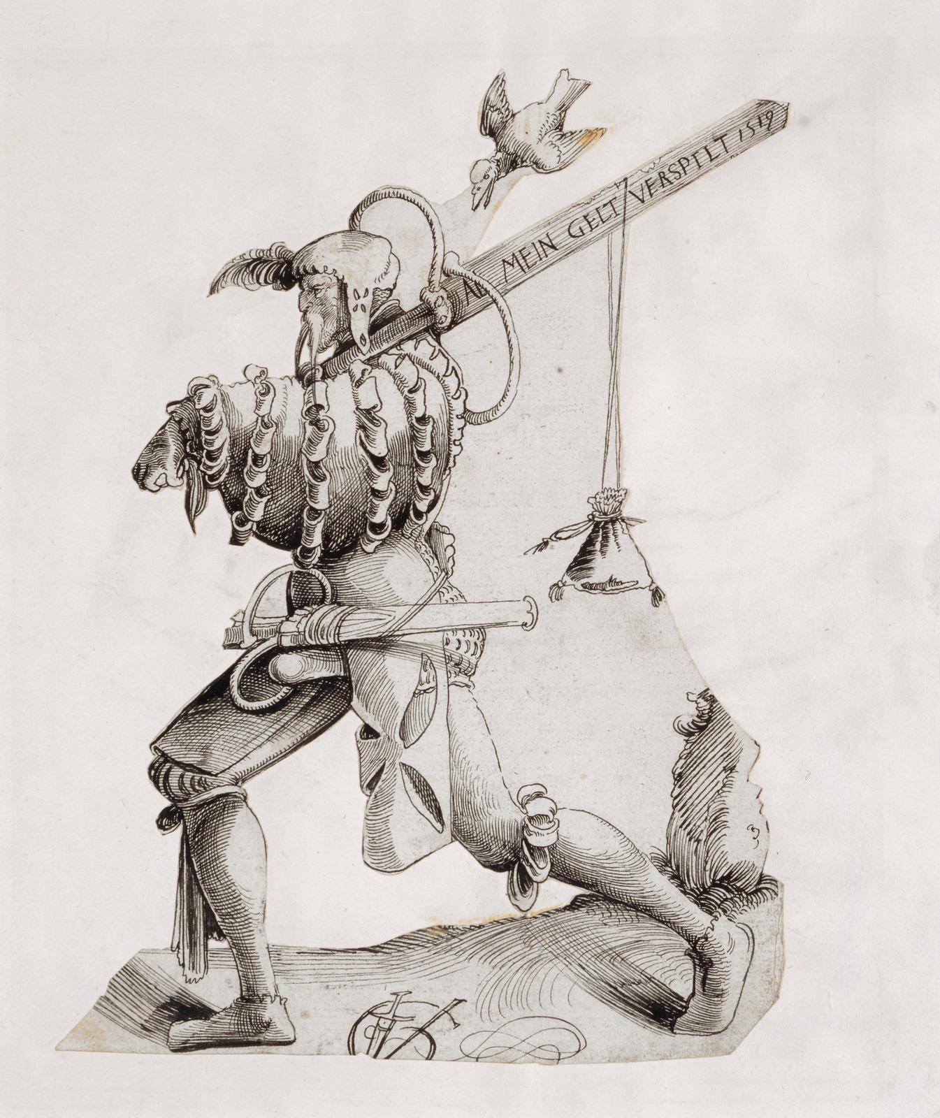 Ландскнехт, продувший свои деньги (Landsknecht, der sein Geld verspielt hat)_1519_27.2 х 19.6_бумага, перо черным тоном_Базель, Кунстмузеум.jpg