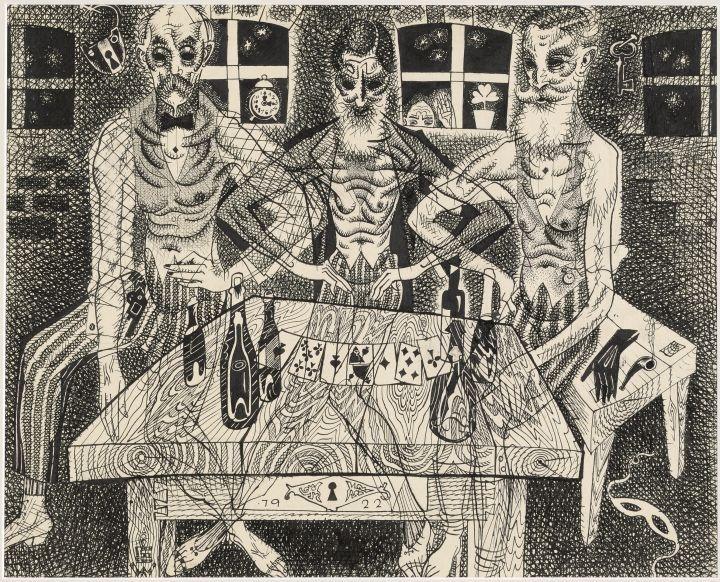 19 Eduard Wiiralt- Kolm vanameest (kaardimngijad)- 1922_900.jpg