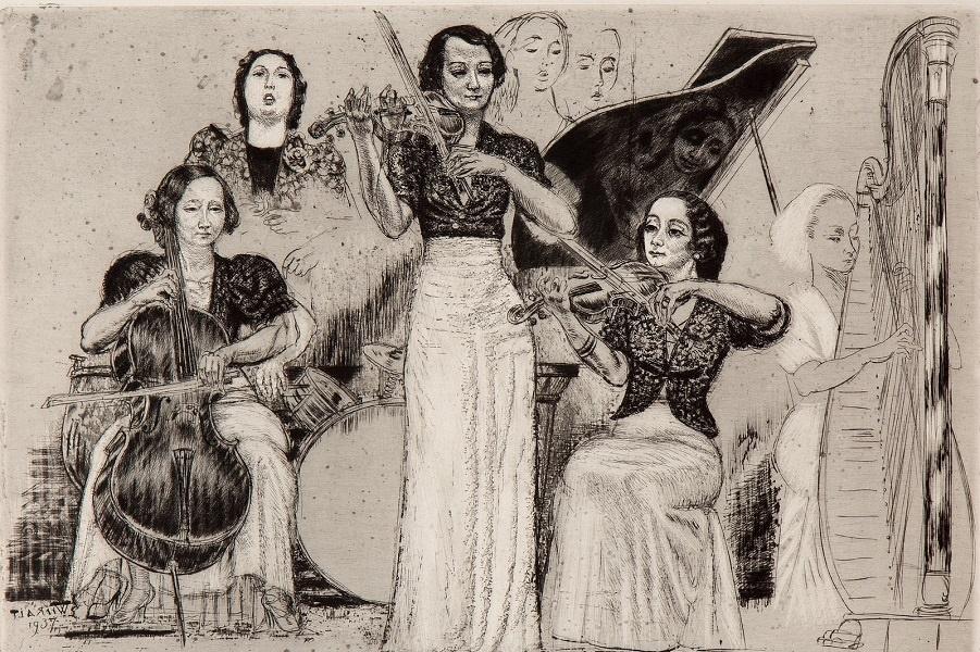 1937_Женский оркестр (Orchestre feminine)_34 x 44, лист 50 x 62_офорт.jpg