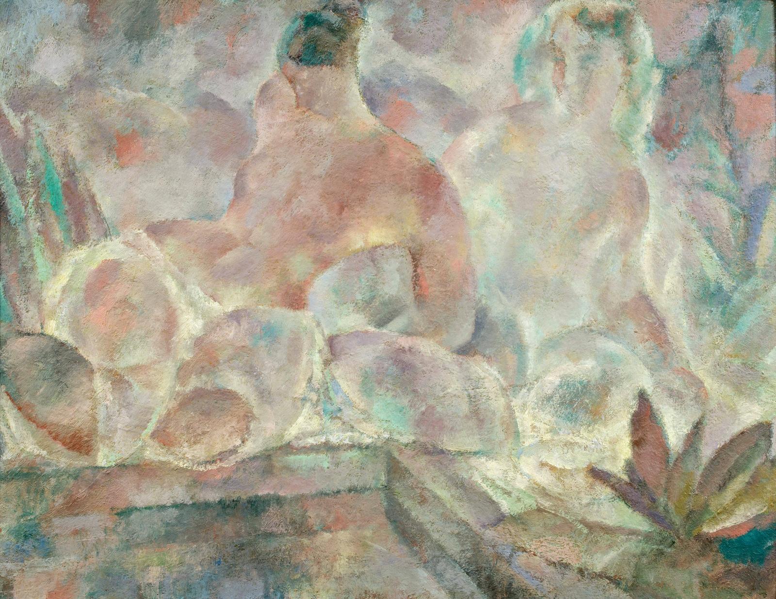 1918_Женщины у бассейна (Femmes au bord de la piscine)_50 x 65_х.,м._Частное собрание (1).jpg