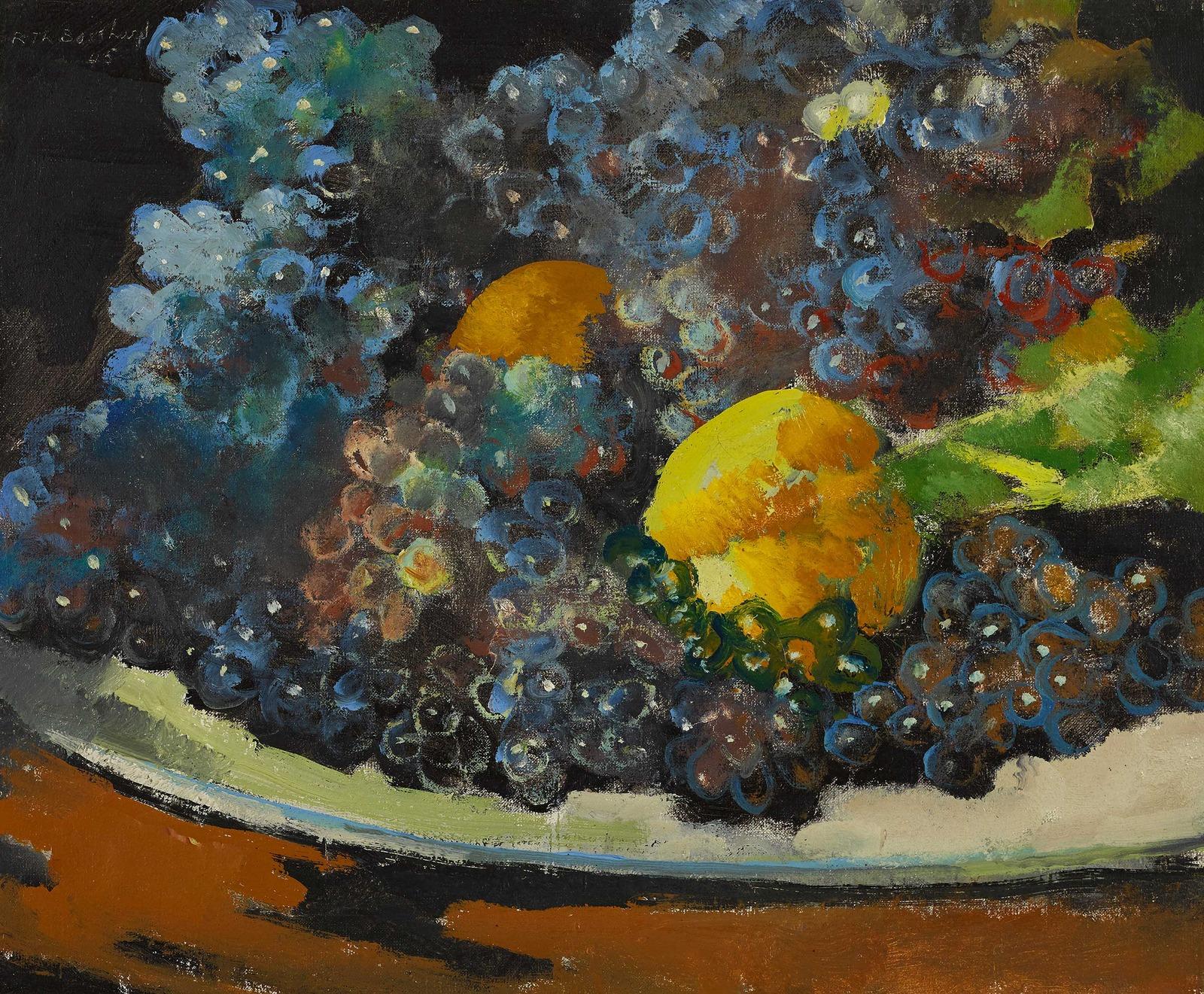 1945_Синий виноград и лимон (Raisin bleu et Citron)_37.5 х 46_х.,м._Частное собрание.jpg