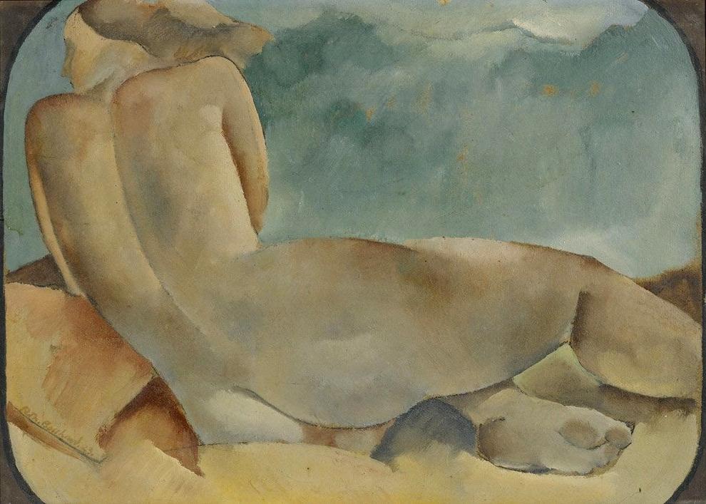 3_1923_Лежащая обнаженная со спины (Nu feminin allonge de dos)_33.6 x 47_д.,м._Частное собрание.jpg