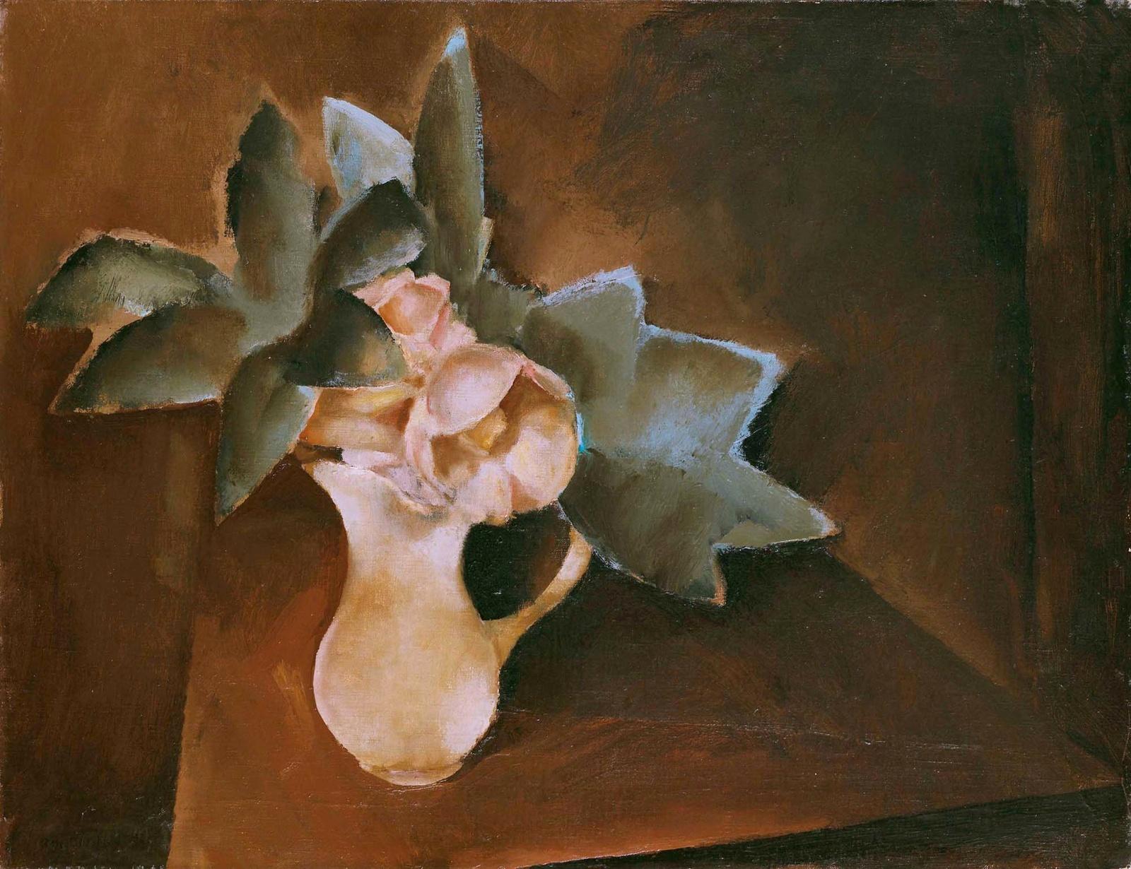 1924_Цветы в вазе (Fleurs dans une vase)_50 х 65_х.,м._Частное собрание.jpg