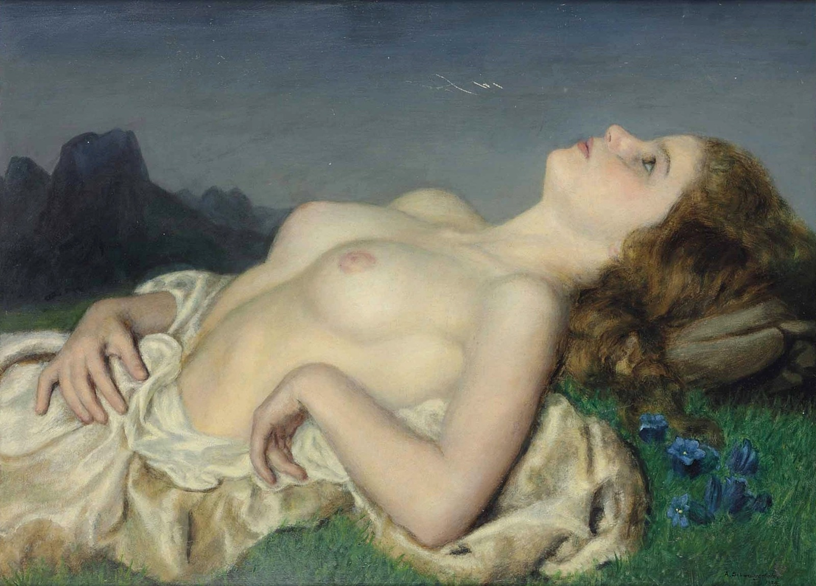 Alfred Schwarzschild, 1874-1948_Лежащая обнаженная (Reclining female nude)_1934_64.8 х 89.5_д.,м._Частное собрание.jpg