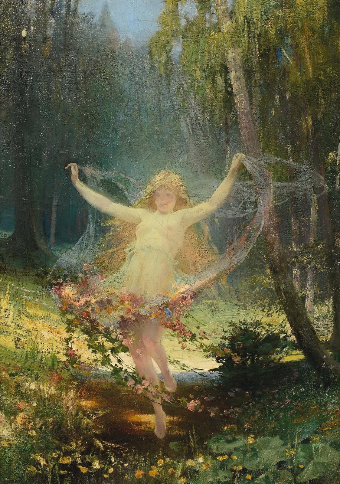 Caesar Philipp, 1859-1930 (Германия)_Аллегория весны (Allegory of Spring)_85 х 61_х.,м._Частное собрание.jpg