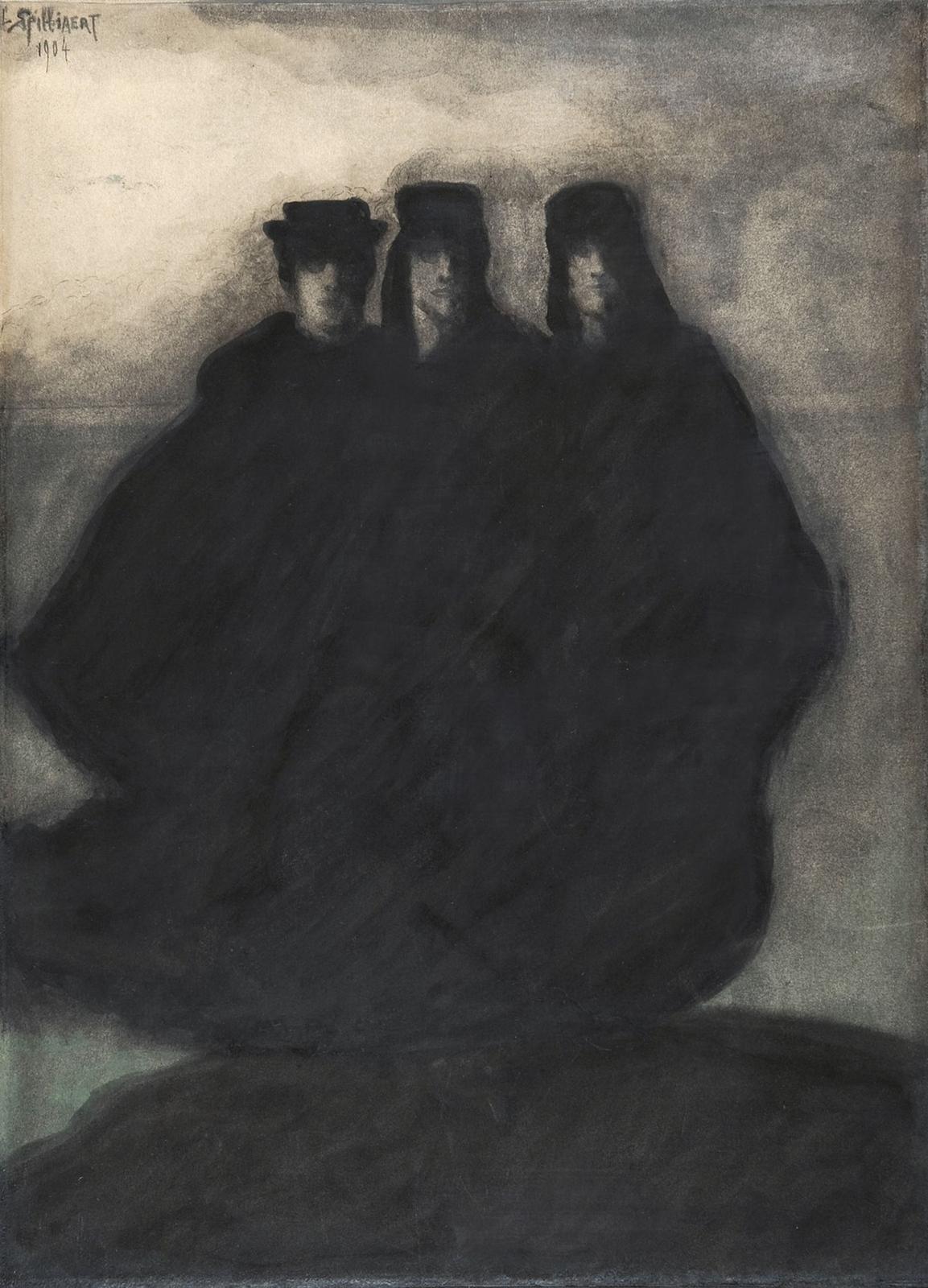 1904_Три персонажа (Trois personnages)_51.5 х 37.8_акварель, кисть и тушь_Частное собрание.jpg
