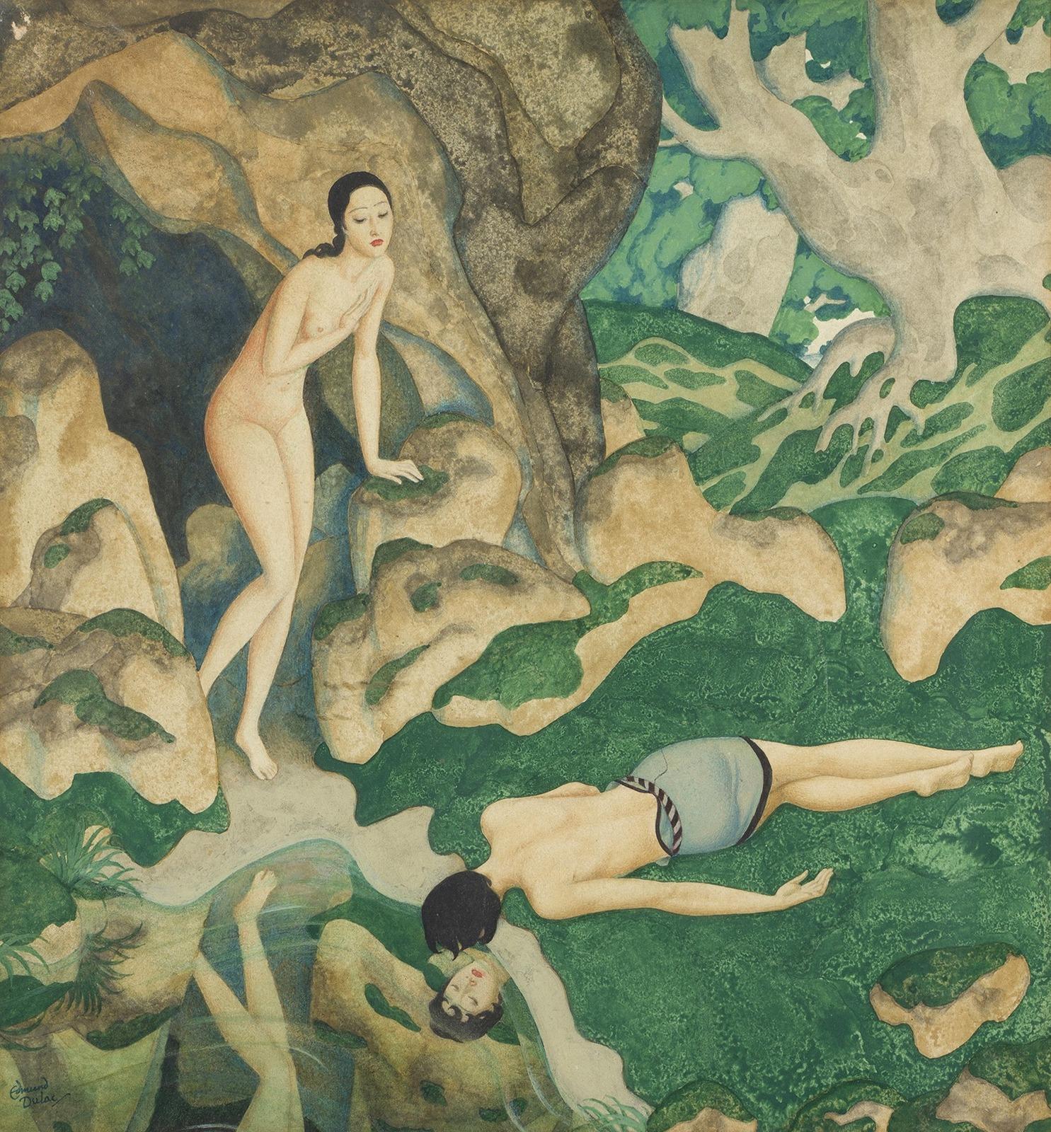 1_Эхо и Нарцисс (Echo and Narcissus)_30 х 28_акварель и гуашь_Частное собрание.jpg