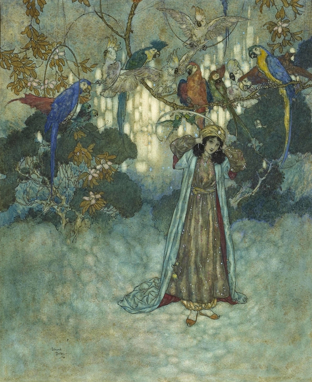 1910_Спящая красавица и другие сказки (Quiller-Couch, Arthur, Sir. The Sleeping Beauty and other Fairy Tales)_30.5 x 25.4_бумага, акварель и карандаш_Частное собрание.jpg