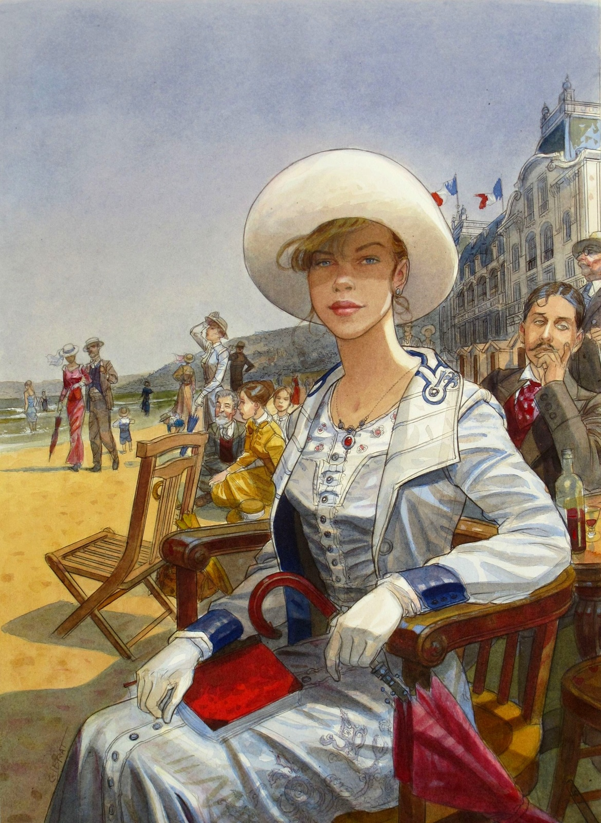 2012_Плакат (Affiche pour les journees Musicales Marcel Proust (Cabourg 2012)_35 х 48.5_акварель_Частное собрание.jpg