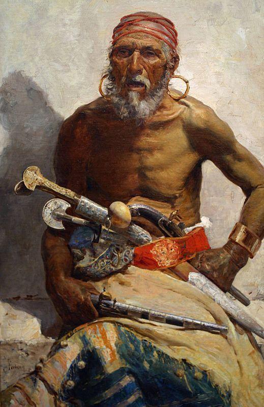 MARIANO FORTUNY Y MARSAL - Chefe árabe - Óleo sobre tela - 1874.jpg