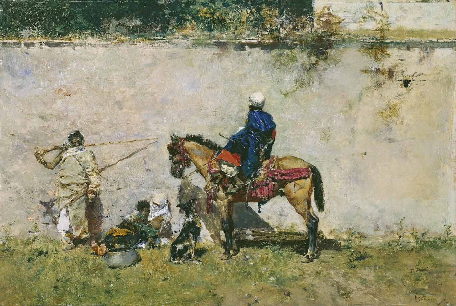 MARIANO FORTUNY Y MARSAL - Marroquinos - Óleo sobre painel - 13 x 19 - Museu do Prado.jpg