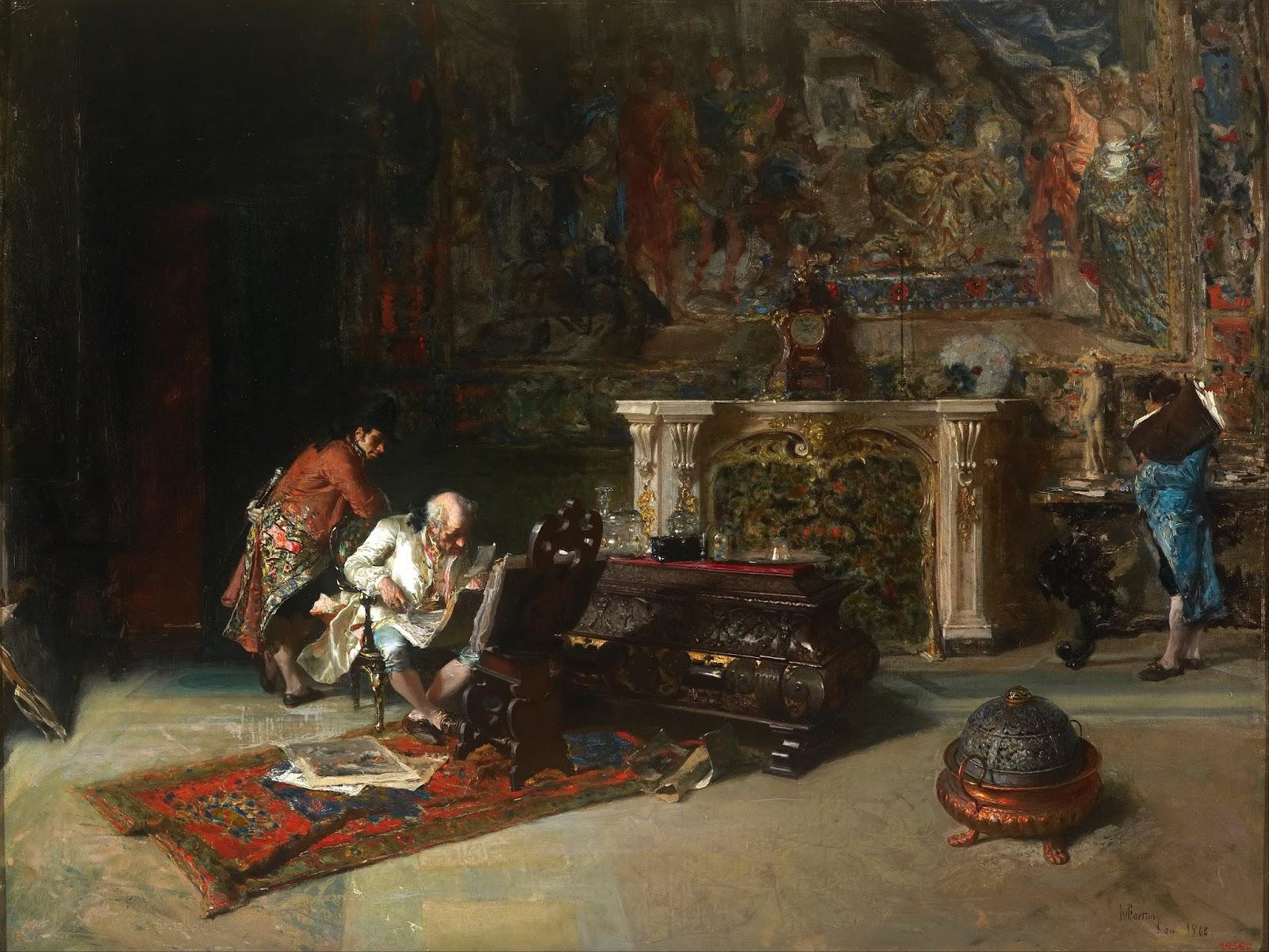 MARIANO FORTUNY Y MARSAL - O colecionador de gravuras - Óleo sobre tela - 52 x 66,5 - 1866 - Museu Nacional de Arte da Catalunha.jpg