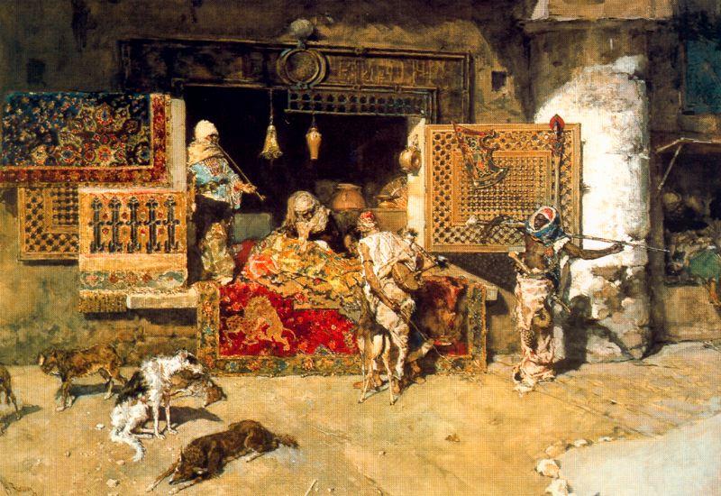 MARIANO FORTUNY Y MARSAL - O vendedor de tapetes - Óleo sobre tela - 1870.jpg