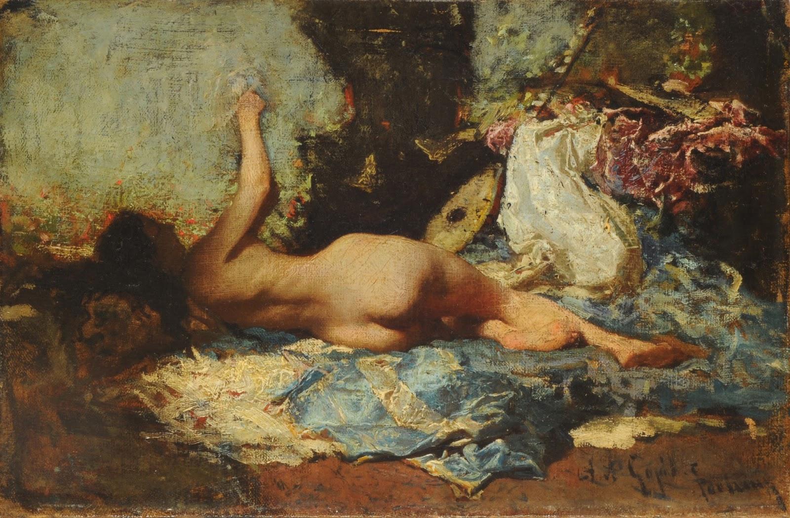 MARIANO FORTUNY Y MARSAL - Odalisca - Óleo sobre tela - 21 x 32,5 - 1865 - Museu Nacional de Belas Artes da Argentina.jpg