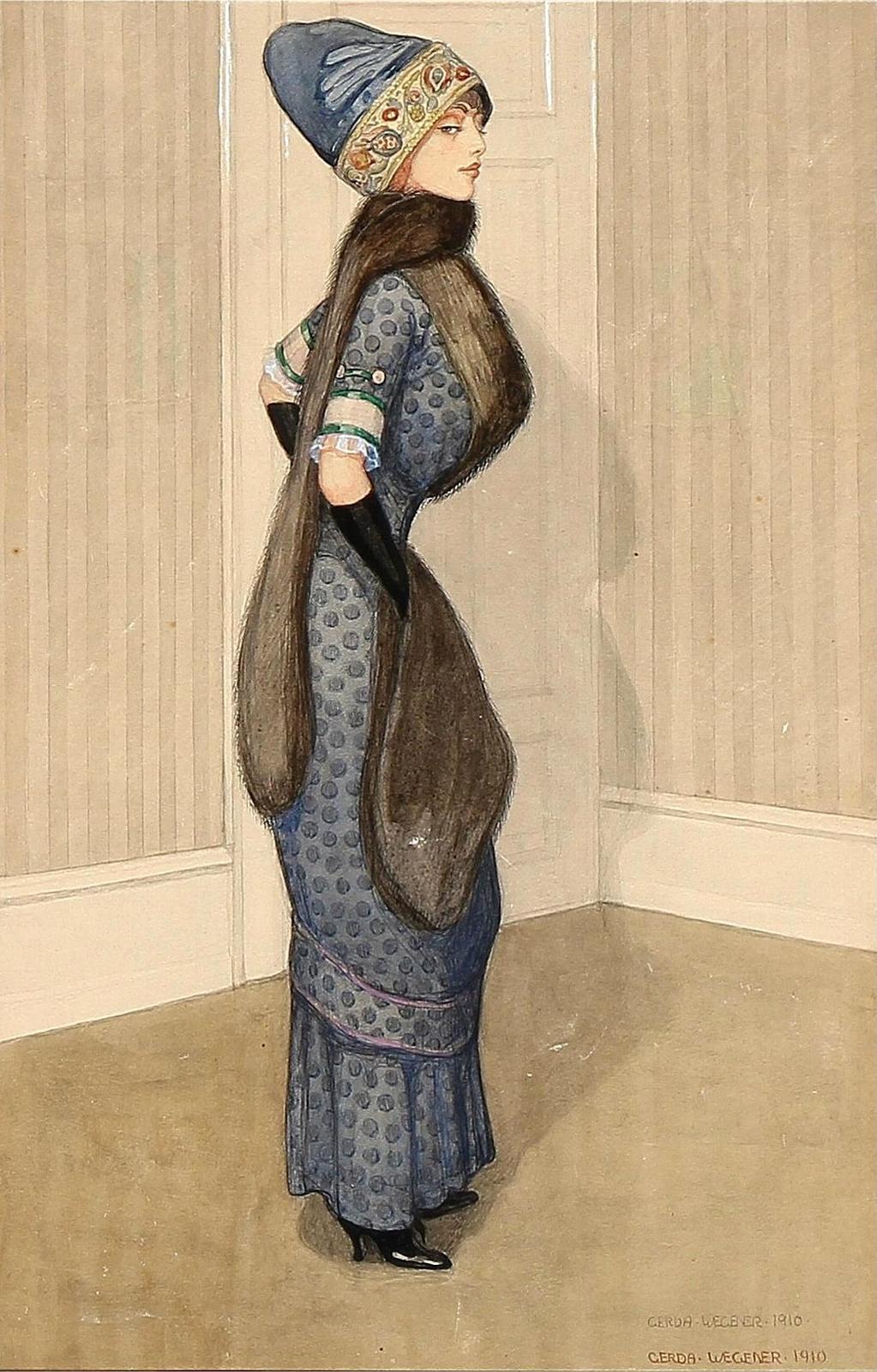 1910_Светская дама (A noble woman)_41 x 26_бумага на картоне, акварель_Частное собрание.jpg
