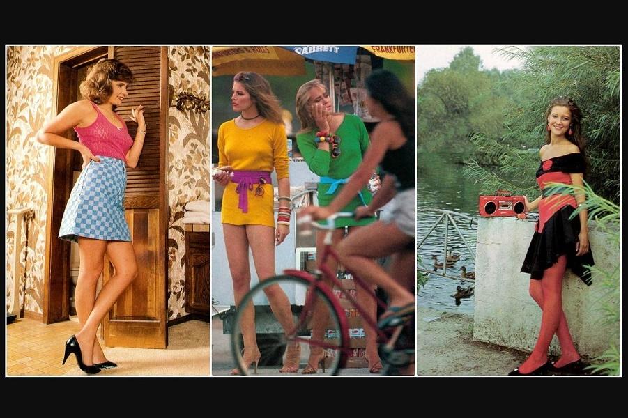 Мини-юбки девушек начала 1980-х годов