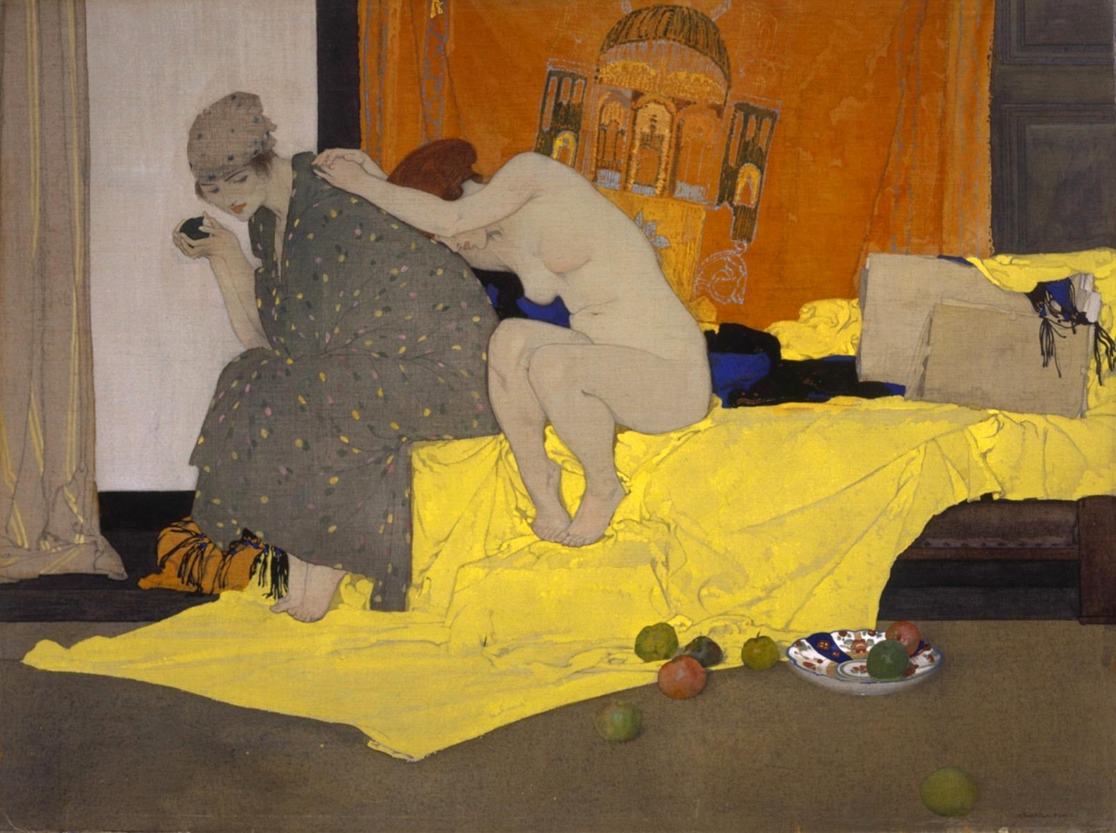 1920_Две модели в мастерской (Two Models in a Studio)_49.9 х 67.1_холст, акварель_Эдинбург, Национальная галерея Шотландии.jpg