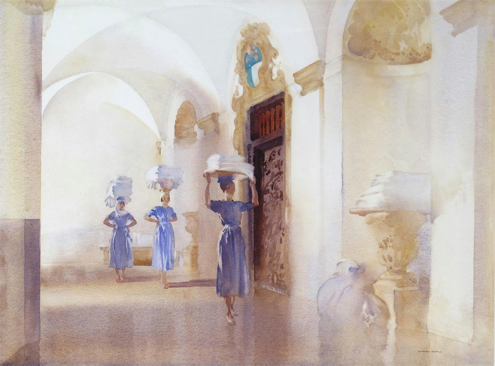 Дворец холста (The Palace Linen)_50 x 67.5_бумага, акварель_Частное собрание.jpg