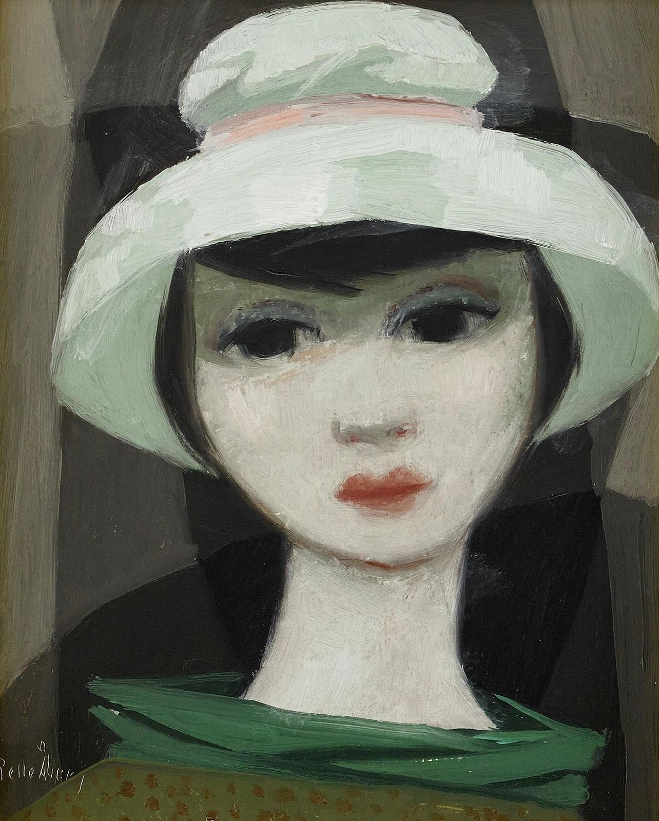 Дама в зеленой шляпе (Lady in the green hat)_27 х 22_д.,м._Частное собрание.jpg