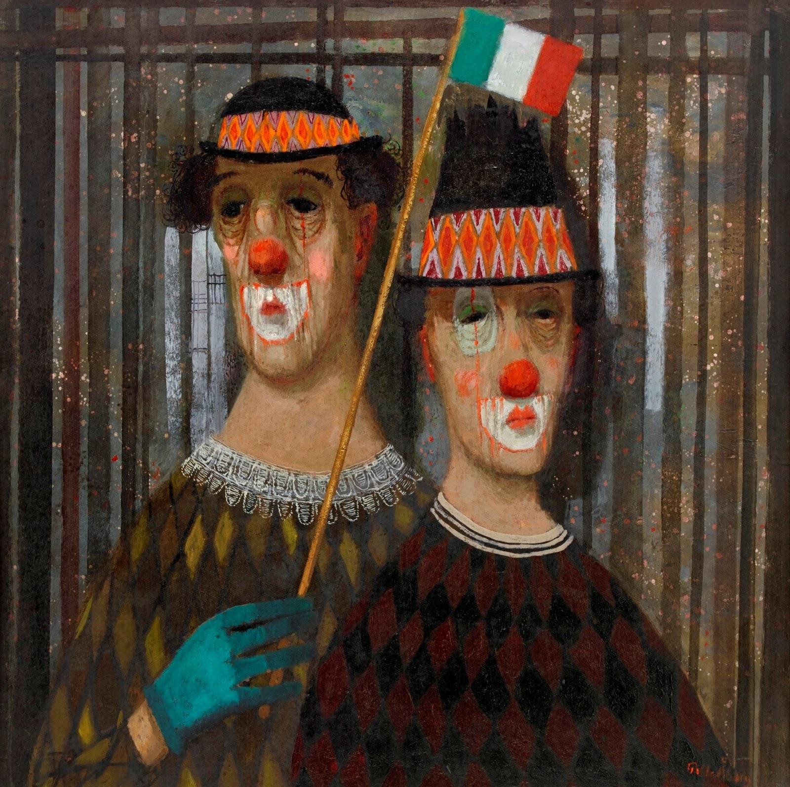 Два итальянских клоуна_61 x 61_д.,м._Частное собрание.jpg