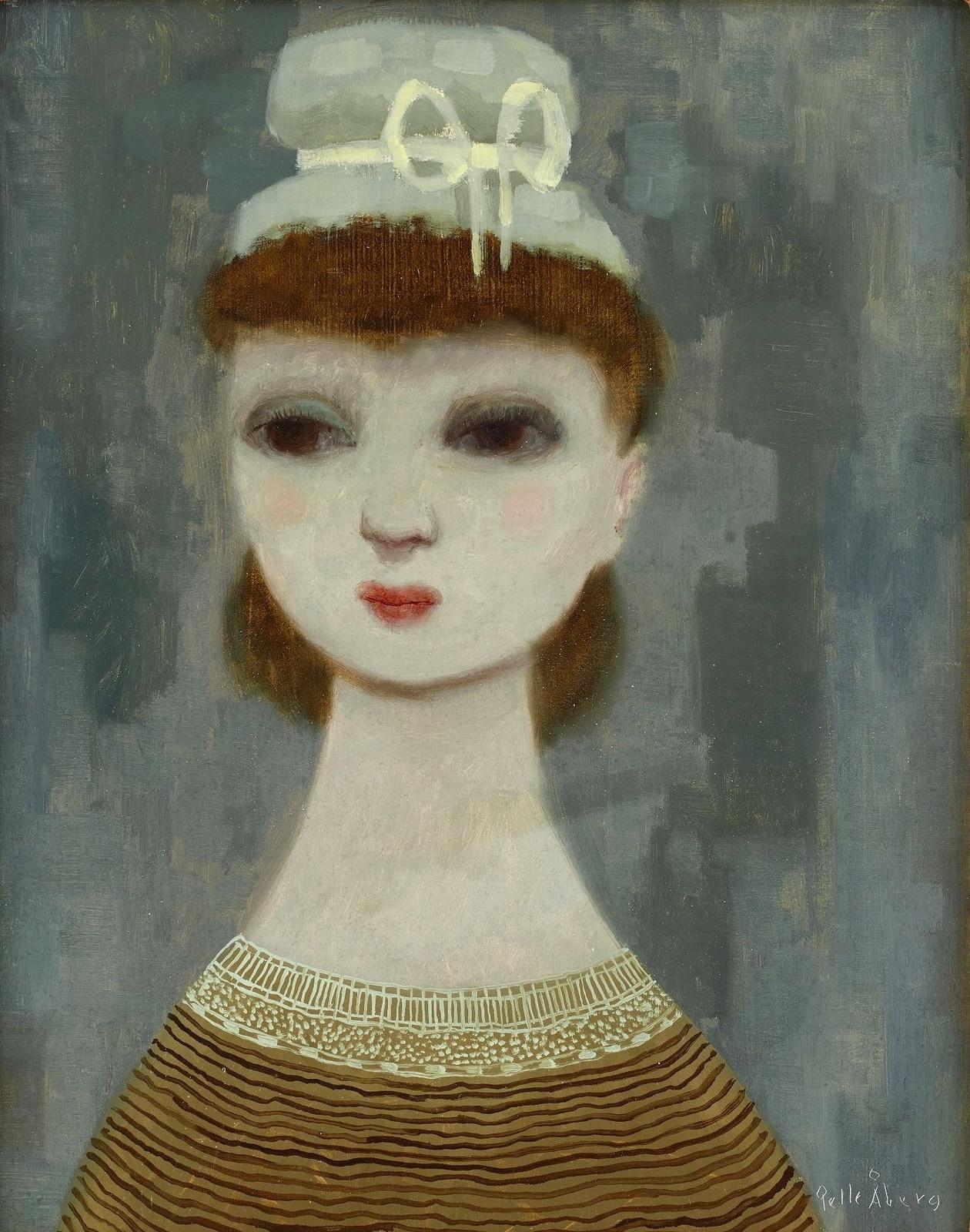 Девушка в свтло-зеленой шляпе (The girl with the light green hat)_40 х 32_д.,м._Частное собрание.jpg