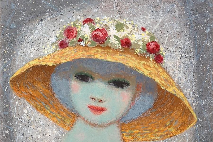 Девушка в шляпе (Girl in hat)_61 х 50_х.,м._Частное собрание (1).jpg