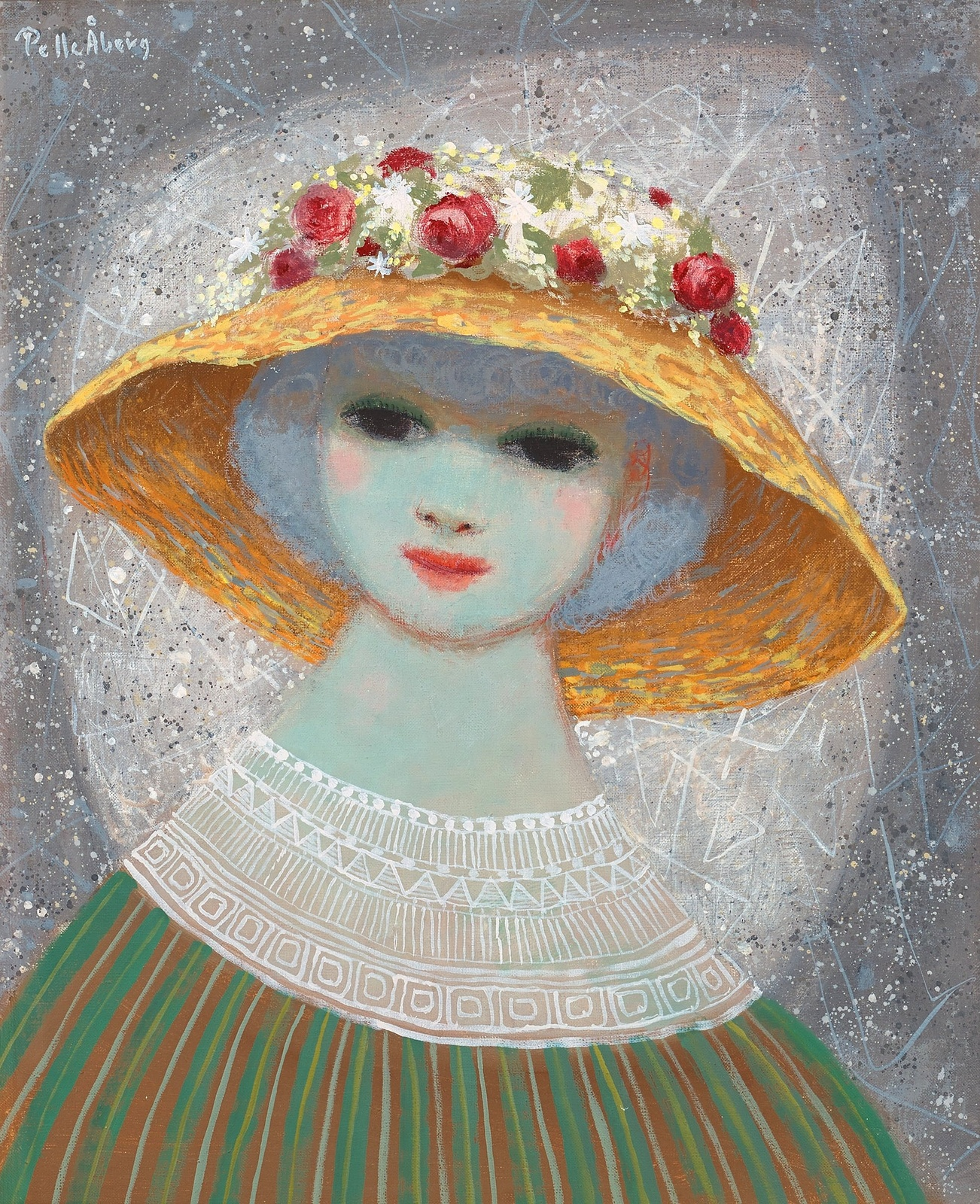 Девушка в шляпе (Girl in hat)_61 х 50_х.,м._Частное собрание.jpg
