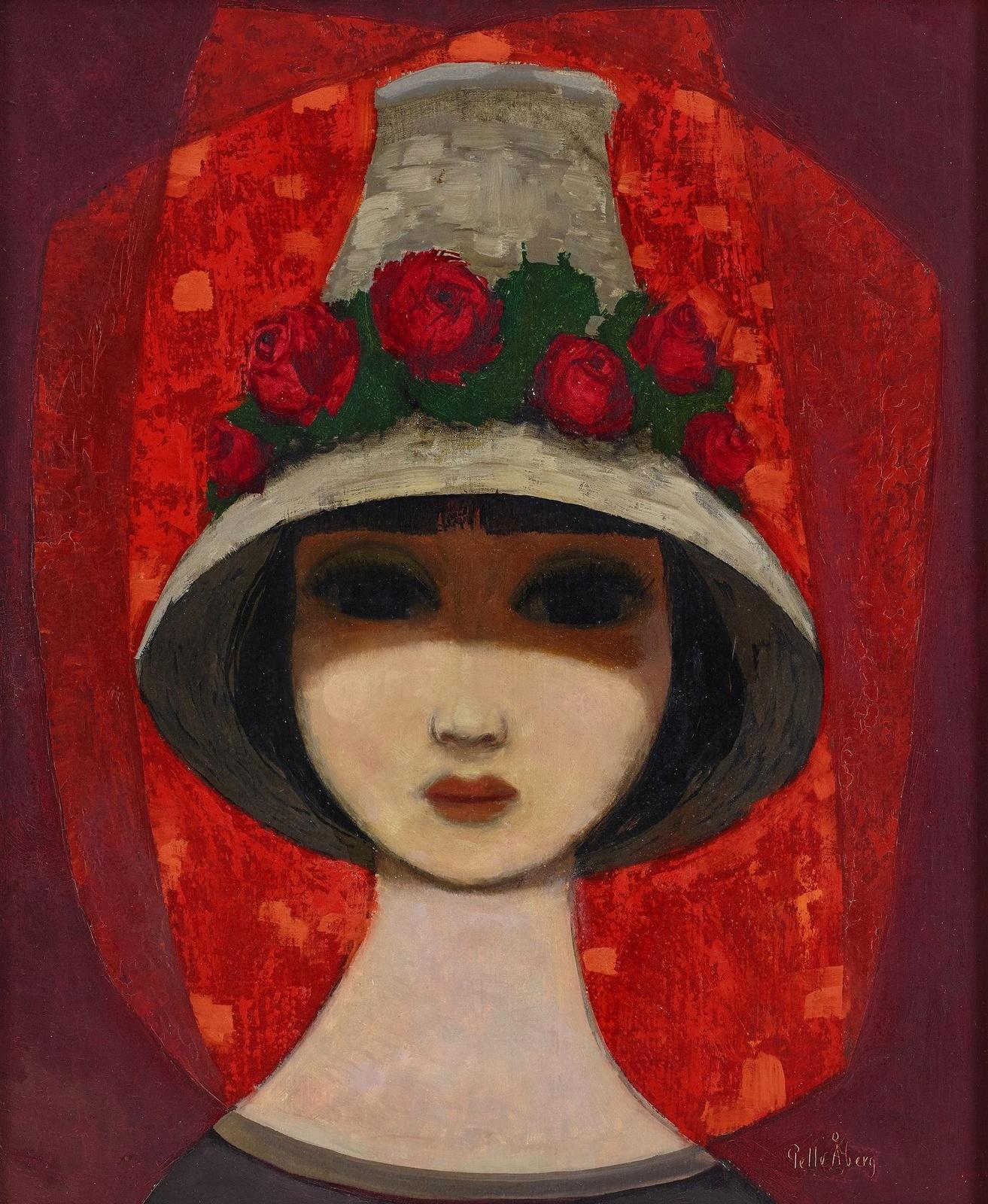 Девушка в шляпе с цветами (Girl with flower hat)_46 х 38_д.,м._Частное собрание.jpg