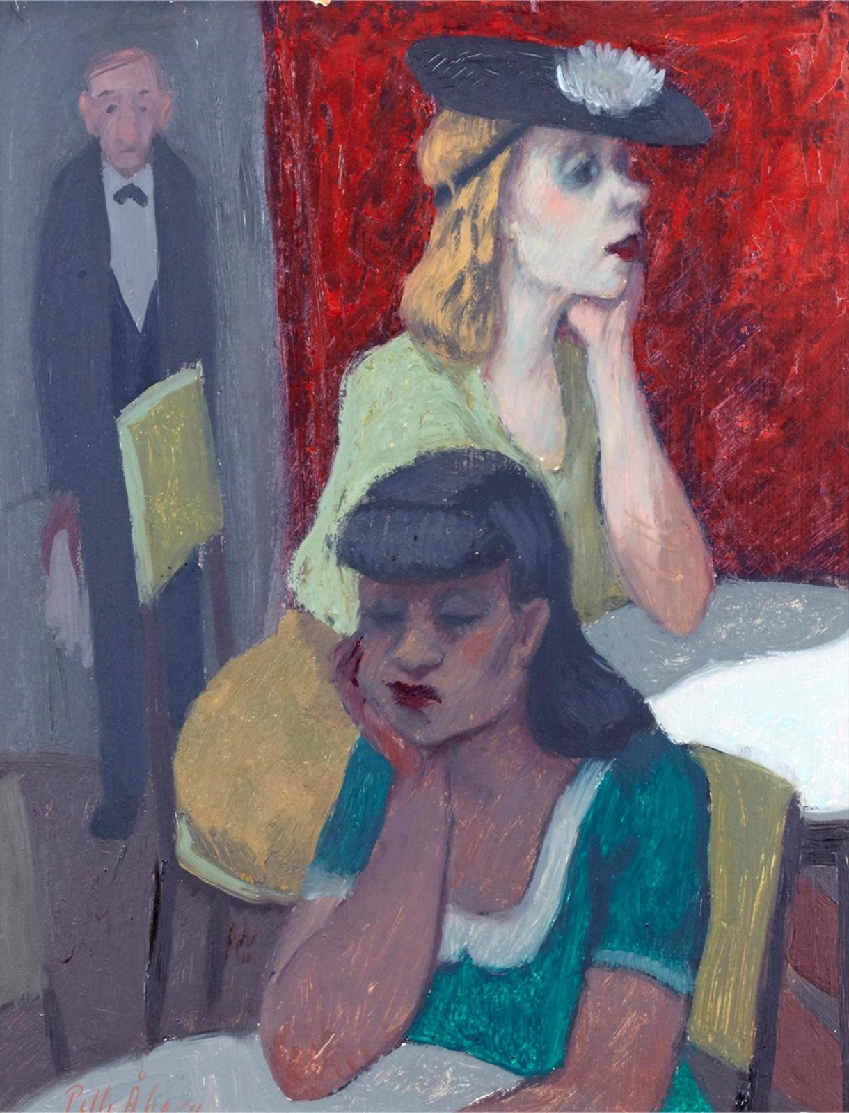 Женщины в кафе (Women at the cafe)_41 х 33_д.,м._Частное собрание.jpg