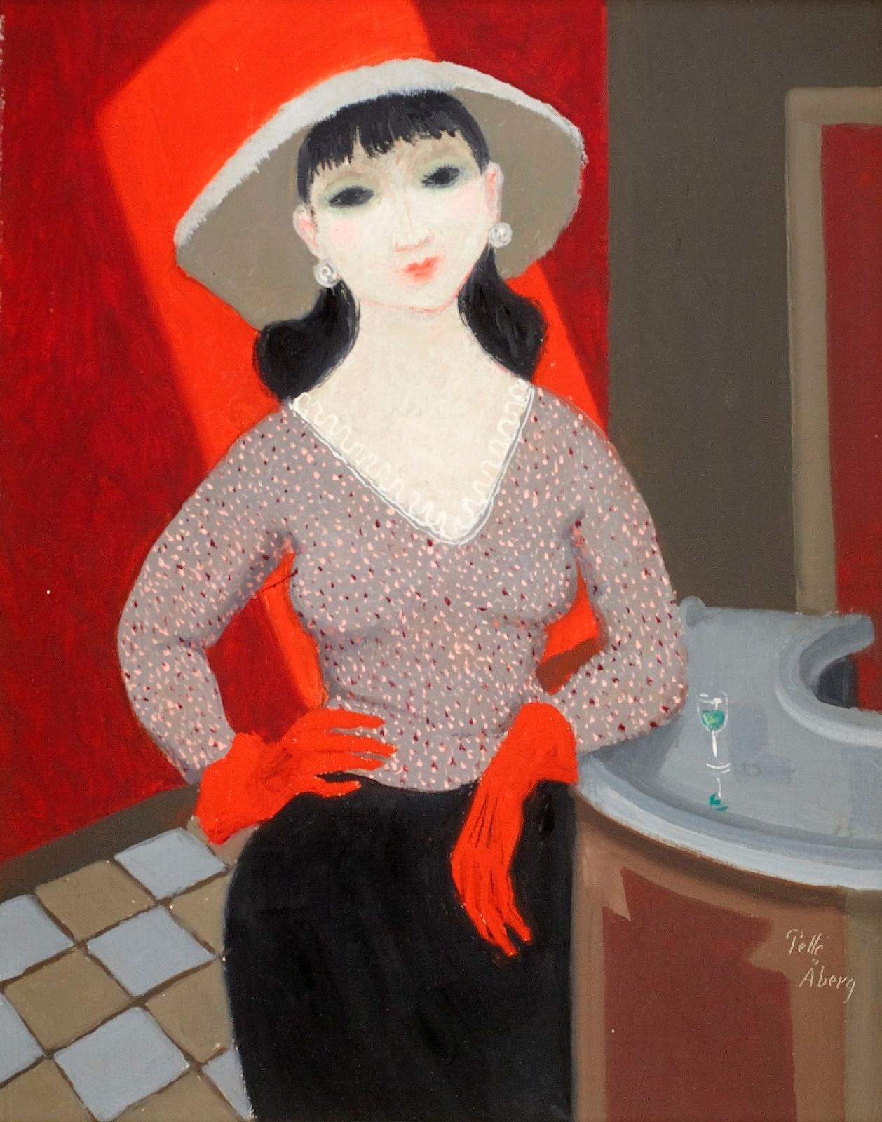 Женщина в красных перчатках (Woman with red gloves)_41 х 33_х.,м_Частное собрание.jpg